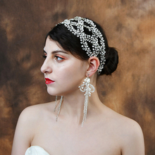 TRiXY H243 Delicate Bridal Crown for Women Tiara Wedding Headband for Bride Hair Jewelry Silver Wedding Bridal Hair Accessories