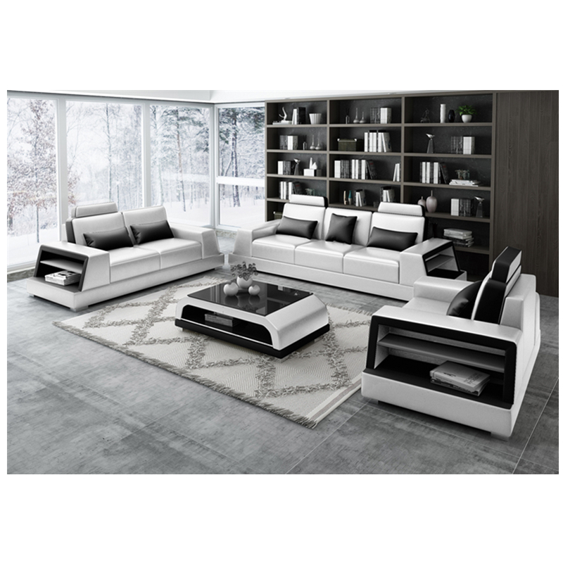 Genuine Leather 1 2 3 Sectional Sofa