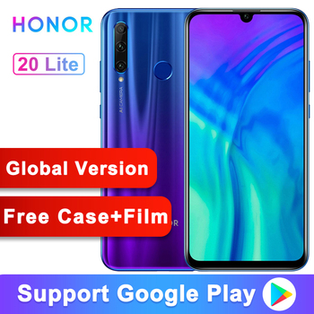 Global Version Original Honor 20 lite 20i Mobile Phone 6.21 inch Kirin 710 Octa Core Android 9.0 Fingerprint Smartphone
