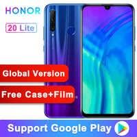 Wersja globalna oryginalny Honor 20 lite 20i telefon komórkowy 6.21 cal Kirin 710 Octa Core Android 9.0 linii papilarnych smartfon
