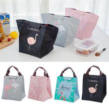 Waterproof Flamingo Lunch Bag Thermal Insulated Food Picnic Cooler Storage Pouch