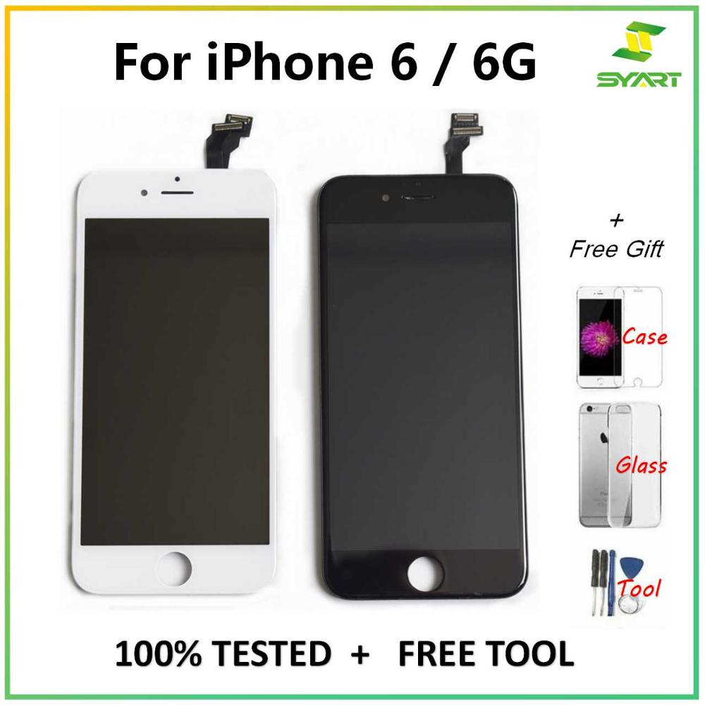"""For iPhone 6 6G LCD Display Touch Screen Digitizer Assembly Grade AAA Replacement + Free 3 Gifts For iPhone6 4.7"""" LCDs Screen"""