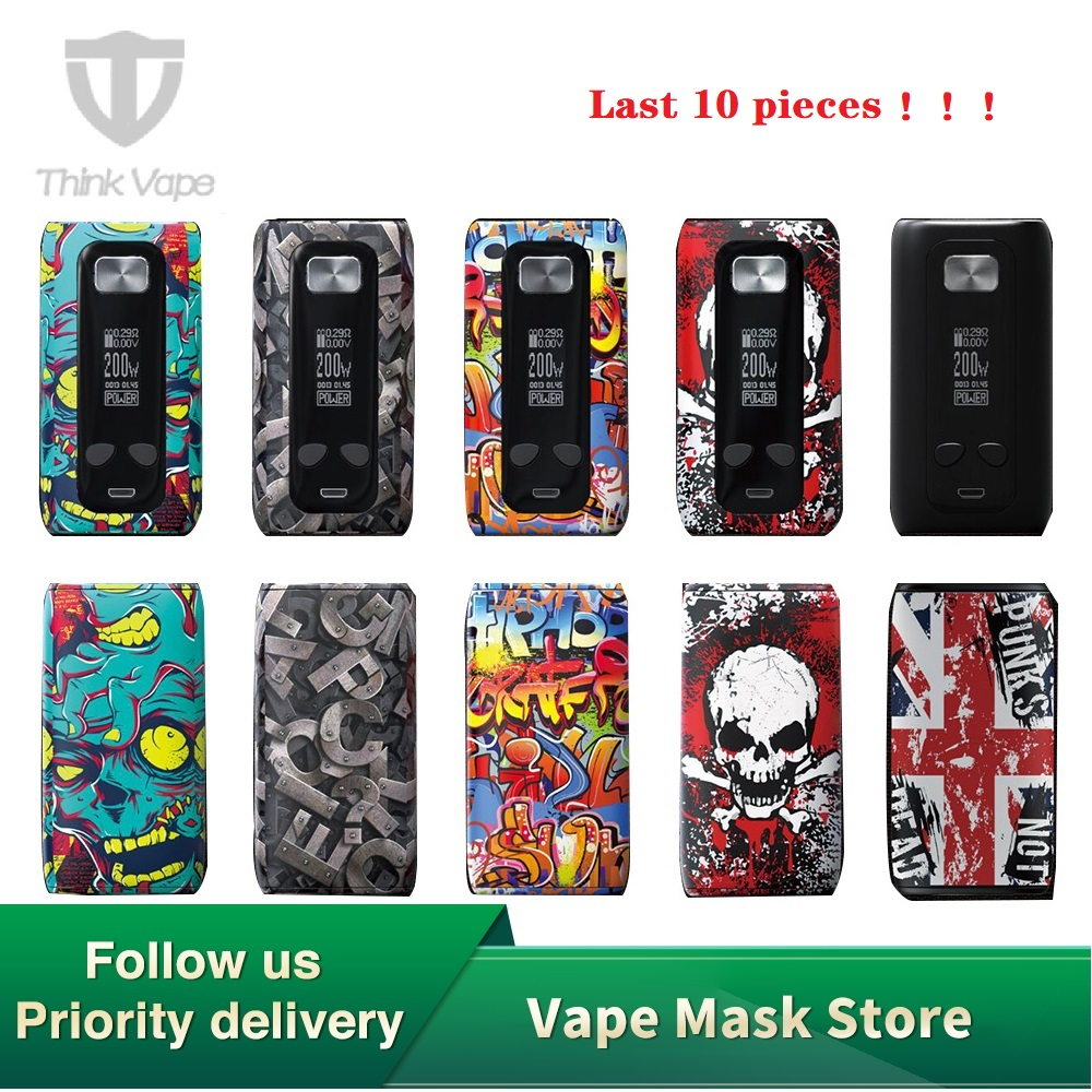 Original Thinkvape Thor 220W TC Box Mod Think Vape Thor Bypass Vape Mod 510 Electronic Cigarette Mod Vape Use 18650 Battery