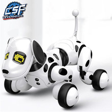 2020 New Remote Control Smart Robot Dog Programable 2.4G Wireless Kids Toy Intelligent Talking Robot Dog Electronic Pet kid Gift(China)