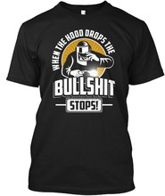 Men t shirt When The Hood Drops The Bullshit Stops tshirts Women t-shirt(China)