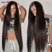 Long Straight Lace Front Wig 28 30 32 34 36 38 40Inches Lace Front Human Hair Wigs Pre Plucked and Baby Hair Remy Brazilian Wig
