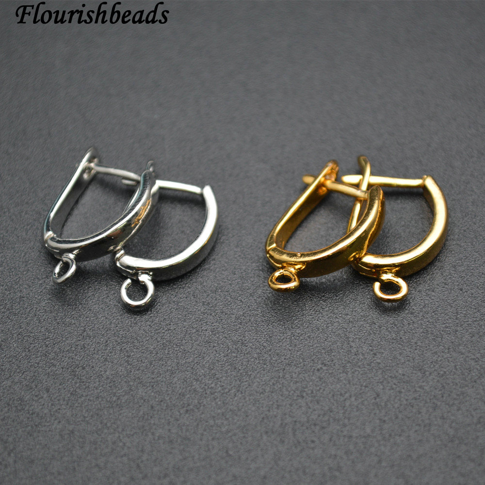 Nickle Free Anti-rust color Plain Metal Earring Hooks Jewelry Findings 50pc Per Lot