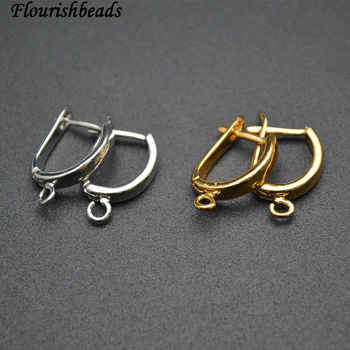 Nickle Free Anti-rust color Plain Metal Earring Hooks Jewelry Findings 50pc Per Lot - DISCOUNT ITEM  8% OFF All Category