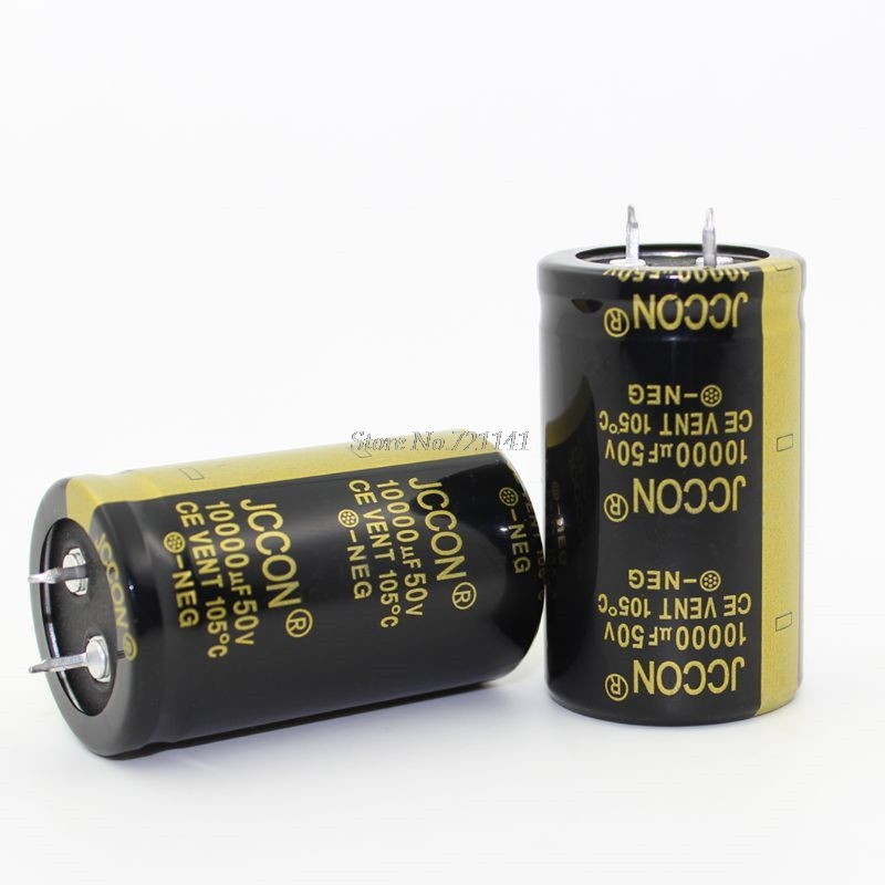 50V 10000uF 30X50mm 30X50 Aluminum Electrolytic Capacitor High Frequency Low Impedance Through Hole Capacitor 30*50mm  Dropship