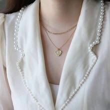 Позолоченное винтажное ожерелье на ключице amaiyllis 14 к с