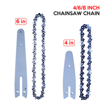 4/6/8 inch Chain Universal Chain Mini Steel Chainsaw Chain Replacement Made of Fine Quality Steel with Superior Technology