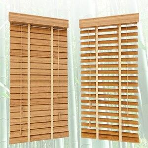 Image 1 - Бамбуковые подъемные жалюзи 35 мм, жалюзи индивидуального размера для украшения дома