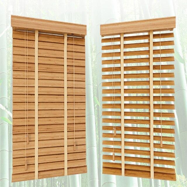Бамбуковые подъемные жалюзи 35 мм, жалюзи индивидуального размера для украшения дома