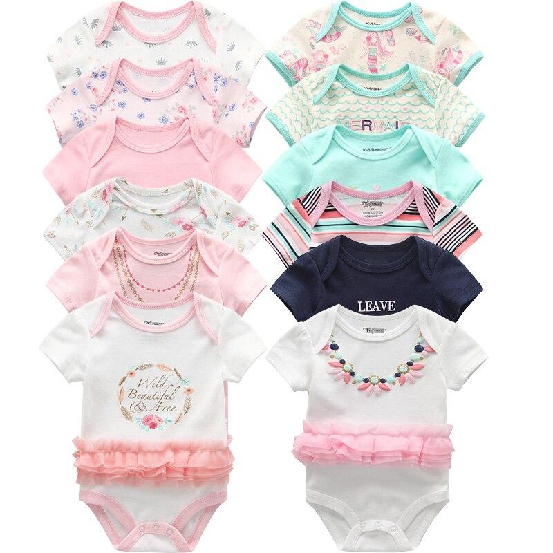 6 шт./лот от Carter's, детский костюмчик, модные комбинезоны с короткими рукавами для новорожденных, детский спортивный костюм с персонажами из мультфильмов; Детская одежда для маленьких девочек|Боди для малышек| | АлиЭкспресс
