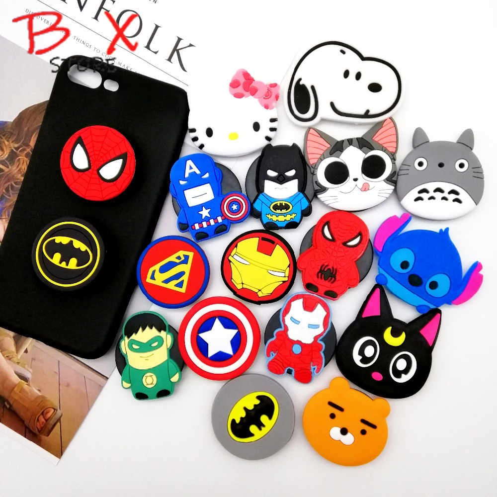 Image 2 - B X Store Universal Socket Mobile Phone Stretch Bracket Cartoon Stitch Air Bag Phone Expanding Phone Stand Finger Car Holder-in Phone Holders & Stands from Cellphones & Telecommunications