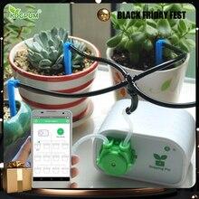 Système darrosage automatique goutte à goutte des plantes dintérieur, contrôleur Intelligent avec téléphone portable, minuterie avec pompe à eau