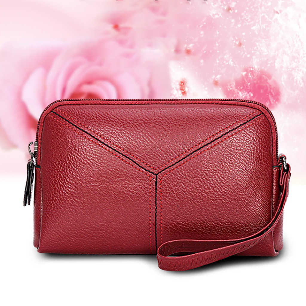 New Vintage Women Wallet With Zipper Coin Pocket Female High Capacity Purse Leather Brand Retro Ladies Long Card Clutch 817