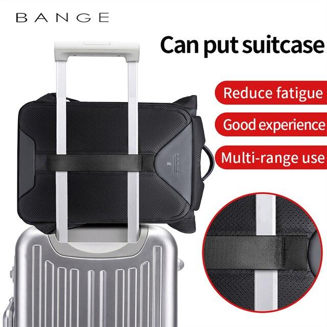 BANGE Men Business Backpack High capacity Waterproof Travel Backpack 15.6'Laptop Backpack School Bag Office Men Backpack 5