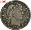 США 1903 P  O  S Парикмахерская или голова свободы четверть долларов копии монет