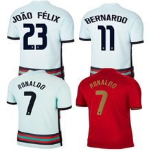 Camisa da qualidade superior de andré silva ronaldo b. fernandes bernardo joão felix joao cancelo 20 21 novos camisa masculina portugales