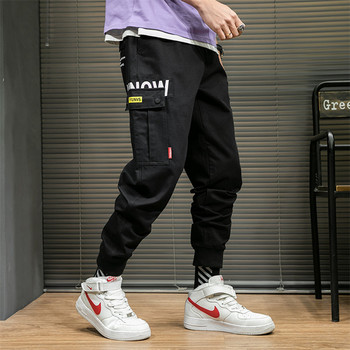 Autumn Winter Mens Cool Pants Plus Size College Black Oversized Cargo Pants Men Fashion Big Pockets Hip Hop Trousers Pants