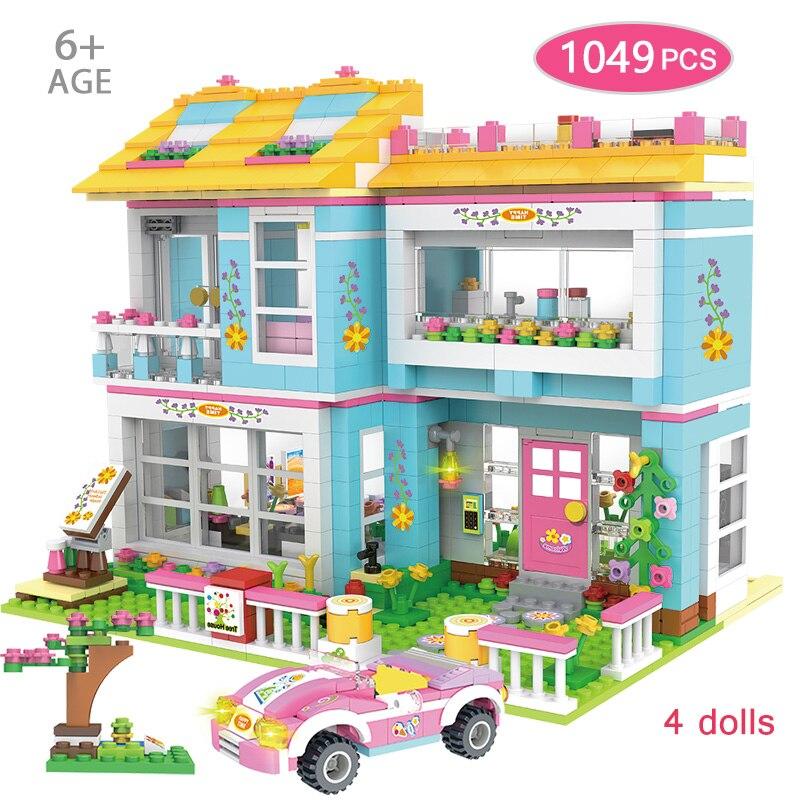 1049 шт Девушки совместимы с Lepining Друзья Семья дом друг вечерние Duploed Семья серии строительные блоки игрушки|Блочные конструкторы|   | АлиЭкспресс