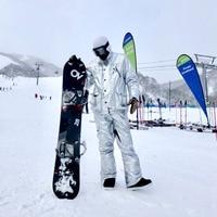 Hot Silver Ski Suit Men Women Snowsuit Winter Outdoor Sportswear Skiing Clothing Waterproof Warm Thick Snowboard Jacket Pant Set