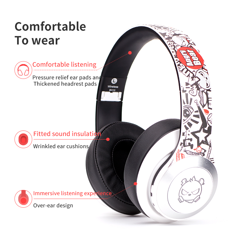 Bluetooth Wireless Headset Gaming Headphone TWS HIFI Stereo Noise Canceling earphone with microphone  For Laptop Tablet PC PS4