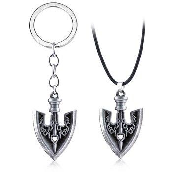 JOJOS Bizarre Adventure Killer Queen Arrow Keychain Kira Yoshikage Cosplay Key Chain for Women Men Car Keyring