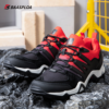 Baasploa 2021 New Men Hiking Shoes Plus Size 46-49 Professional Outdoor Travel Shoes Leather Waterproof Leisure Climbing Shoes