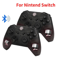 Bluetooth Wireless Game Controller Gamepad Joypad LEDs Remote Telescopic Controle Joystick for Nintendo Switch Console PC