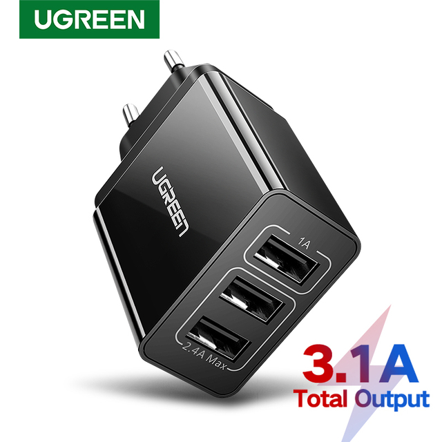 UGREEN USB Charger Charging for Samsung Xiaomi Huawei Phone Charger 3.4A Max Fast Charger for iPhone X EU Adapter Wall Charger