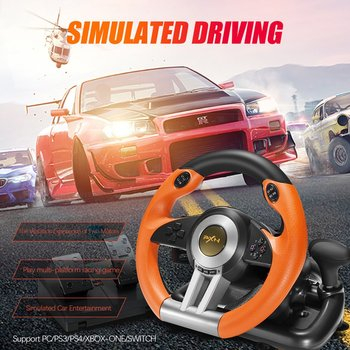 PXN V3II Racing Game Pad 180 Degree Steering Wheel Vibration Joysticks With Foldable Pedal For PC PS3 PS4 All-in-one 2