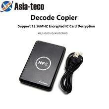 USB UID 13,56 МГц M1 считыватель карт писатель rfid Копир Дубликатор NFC RFID считыватель смарт карт писатель зашифрованный программист