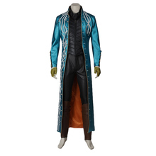 Vergil Cosplay Costume Outfit Halloween Superhero Hot Game Costume Cosplay Party Clothing Custom Made Adult Men resident evil 5 chris cosplay costume custom made