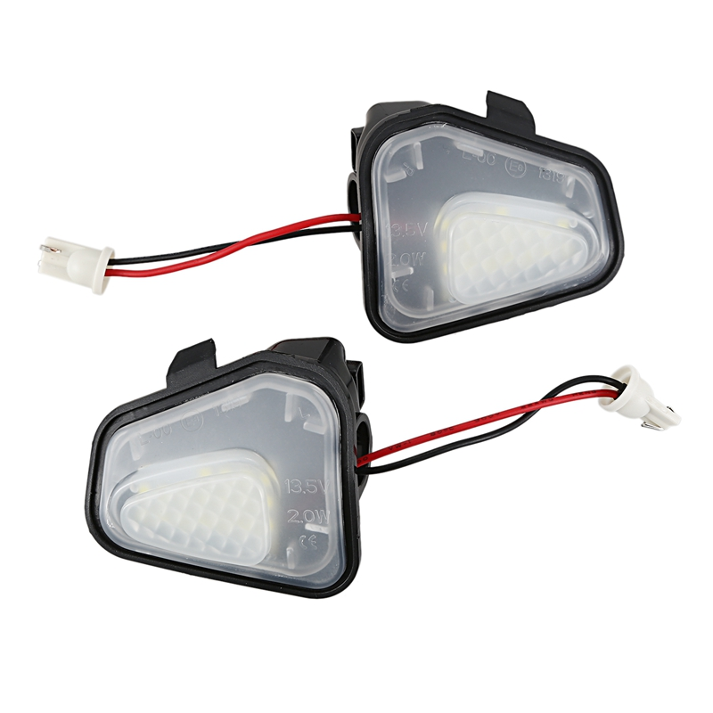 2Pcs Led Side Under Mirror Puddle Light Lamp For Vw Volkswagen Cc 12-14 Eos Passat B7