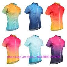 2019 voler Custom Aero Bike Jersey Breathable Sport Wear Gradient Short Sleeves Shirt Mtb Clothes Maillot Ciclismo Hombre