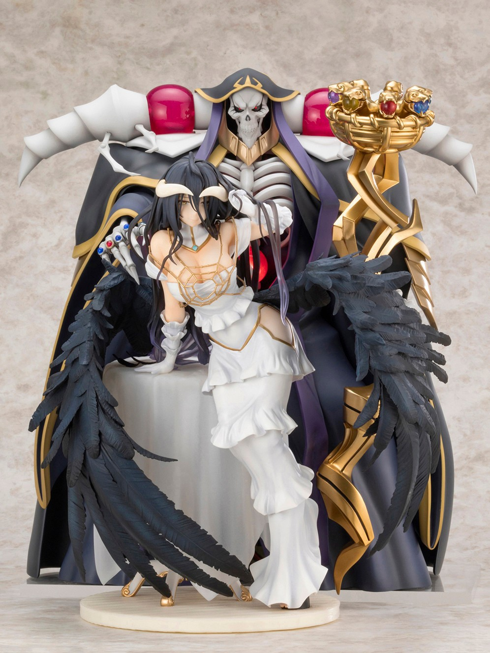 1:7 30cm Overlord Albedo Ainz Ooal Gown Action Figure Model Doll