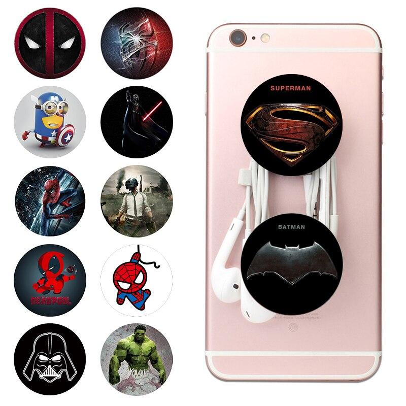 Popping Marvel попсокеты Round Mobile Phone Holder Hot Finger Ring Pocket Socket Expanding Stand And Grip попсокет Smartphones