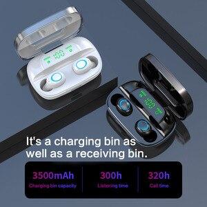 Image 5 - מגע בקרת אוזניות Tws אוזניות 3500 mAh כוח בנק אלחוטי אוזניות TWS Bluetooth 5.0 אוזניות HiFi אני אוזניות עבור ספורט