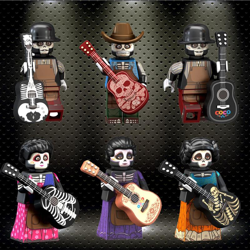 Legoelys The Day Of The Dead Coco Movie Rosita Imelda Victoria Action Figures Building Blocks Minifigured Gift Toys Kids PG8138