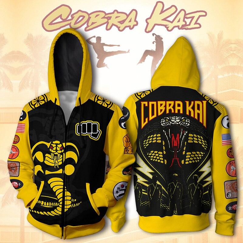 Купить каратэ пацан кобра куртка kai толстовка 3d принт анимация одежда
