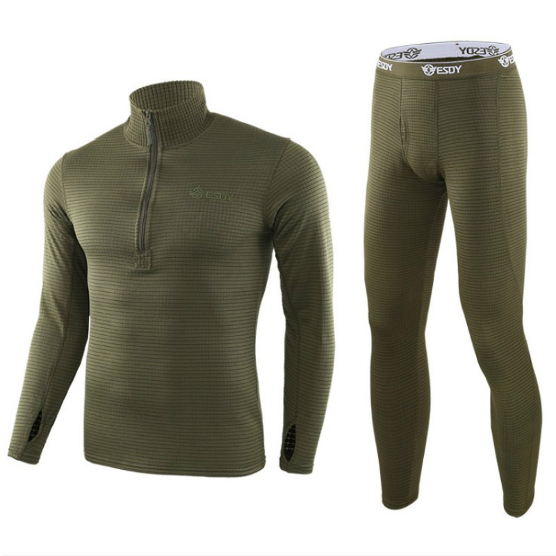 2019 Thermal Underwear Sets For Men Winter Long Sleeve Thermo Underwear Long Winter Clothes Men Motion Thick Thermal Clothing XL