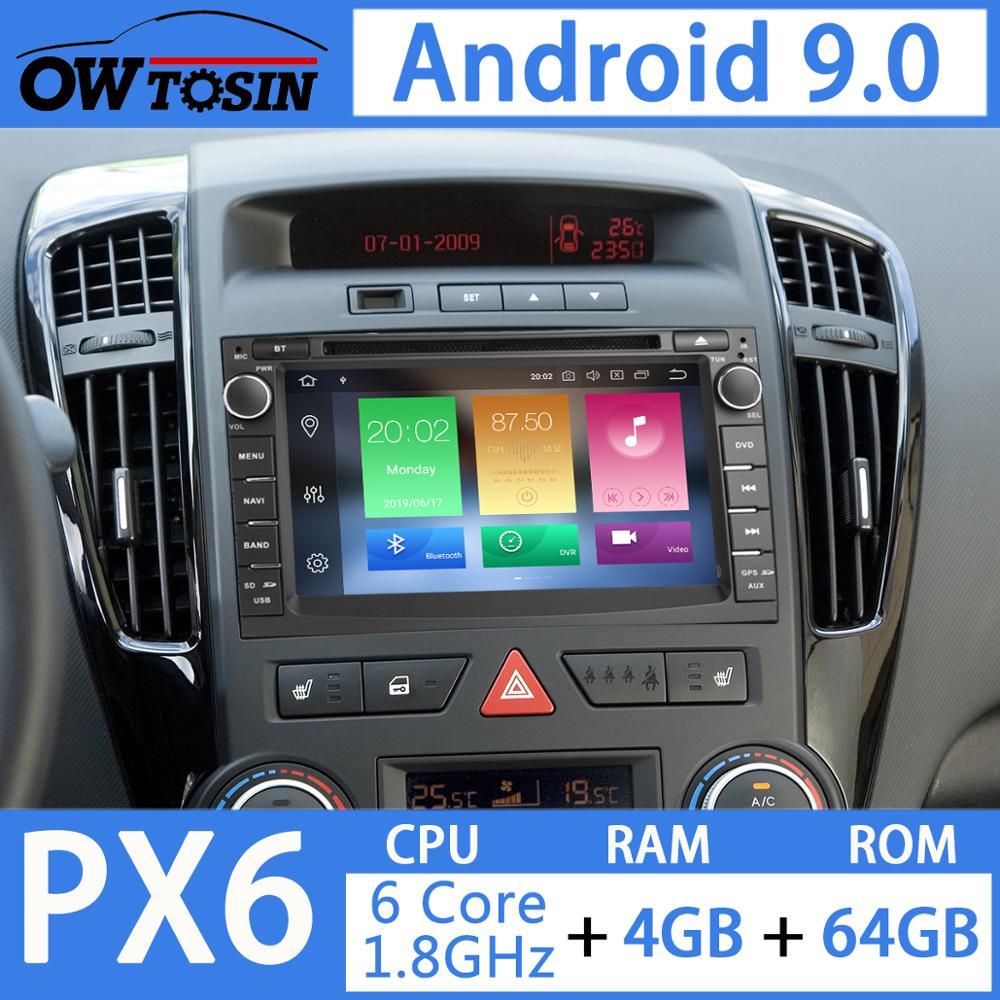 "Sale 7"" PX6 4G+64G 2 Din Android 9.0 Car DVD Multimedia Player For KIA Ceed 2009 2010 2011 2012 Venga Radio GPS Navigation DSP CarPla 1"
