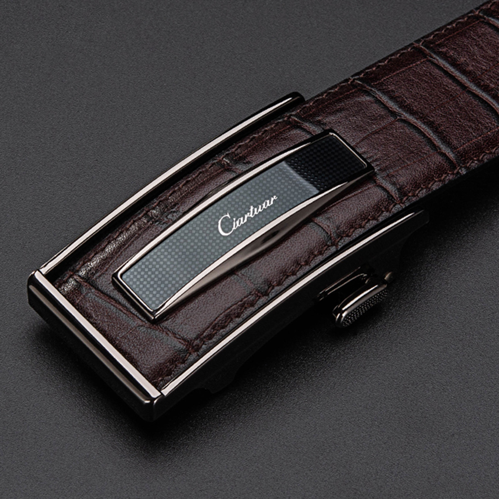 Ciartuar Leather Belt Automatic Buckle Belts For Mens Cow Genuine Leather  Men Designer Belt High Quality Fashion Strap Luxury