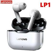 Lenovo LP1 TWS bezprzewodowe słuchawki Bluetooth 5.0 podwójna redukcja szumów Stereo Bass sterowanie dotykowe 300mAH bateria IPX4 wodoodporna