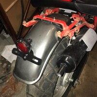 오토바이 리어 펜더 플레어 머드 플랩 스즈키 gn125/gn250 스테인레스 스틸 용 머드 가드 스플래쉬 가드