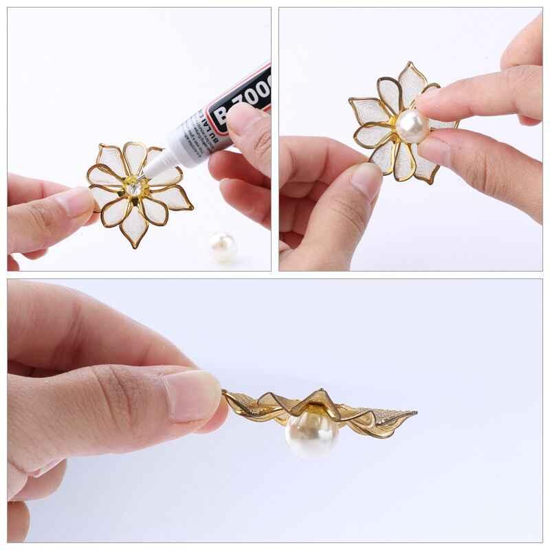 Membeli 1 Mendapatkan 1 Gratis Berlian Imitasi Dingin Lem B7000 10 Ml Epoxy Resin Lem Super Sealant untuk Perhiasan Berlian Imitasi Kaca ponsel Sepatu