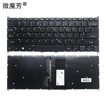NEW US laptop keyboard FOR ACER SP513-51 US English  laptop keyboard Backlit