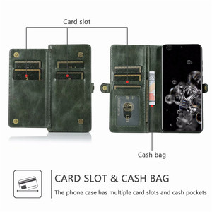 Image 2 - Detachable Flip Leather Wallet Case For Samsung Galaxy S8 S9 S10 E S20 Ultra Note 8 9 10 Plus A10 A20 A30 A40 A50 s A70 A51 A71